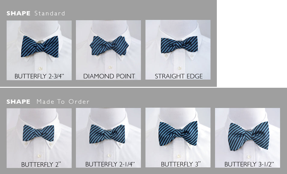 a1c19add599a Custom bow ties in 7 shapes made in freestyle