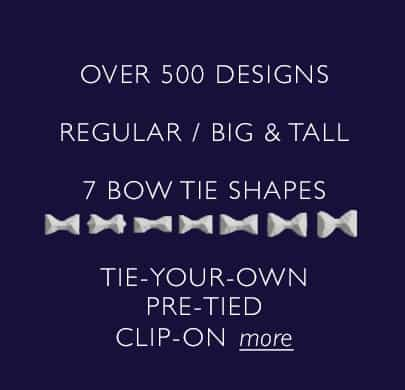 Bow Tie Sizes Shapes
