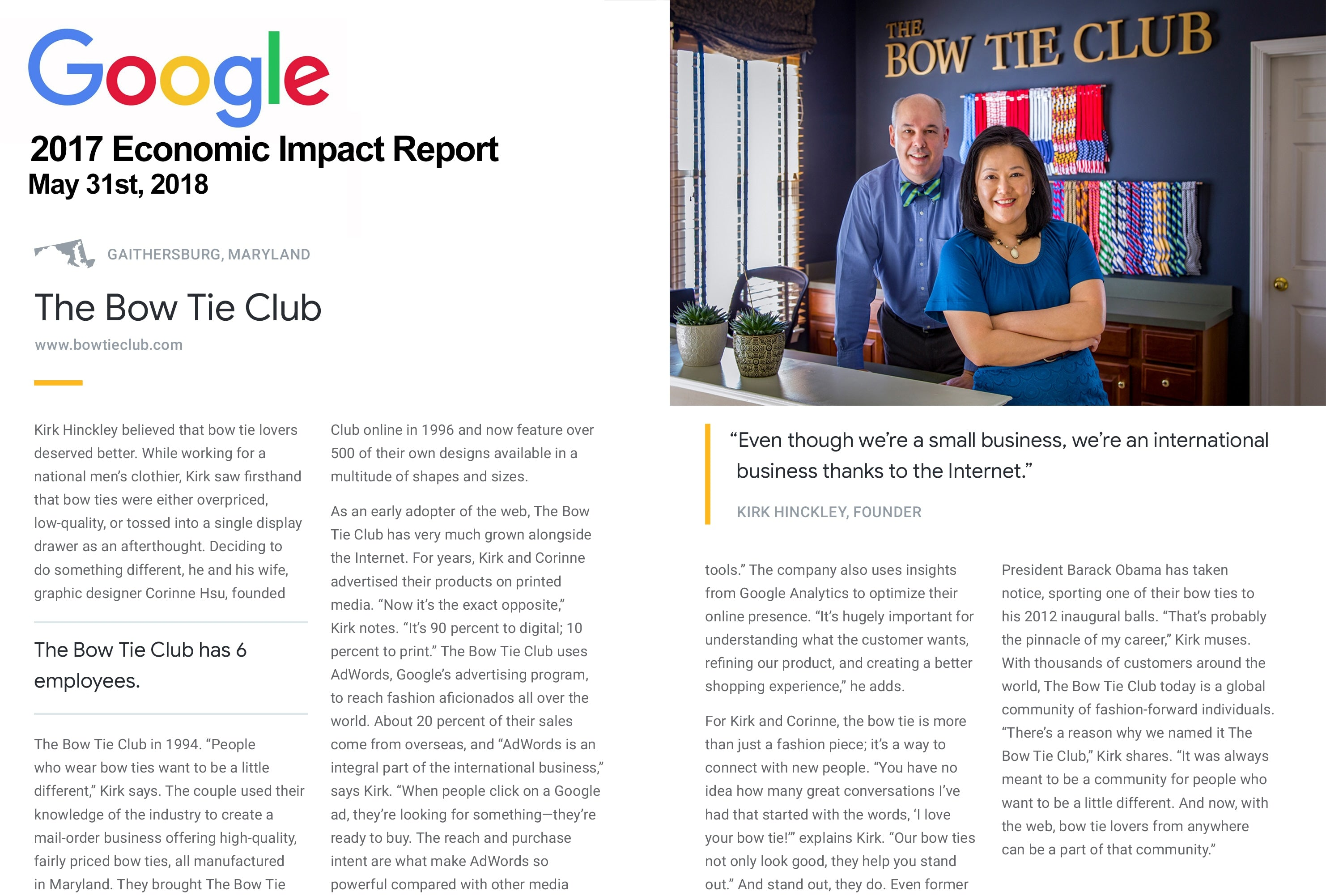 Google Economic Impact Report The Bow Tie Club