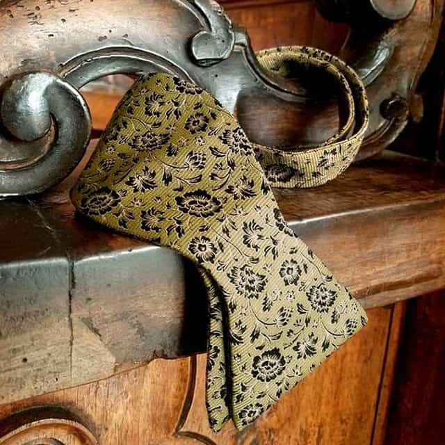 Sage Damask Bow Tie