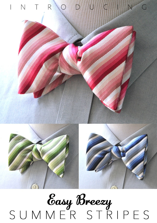 Summer Stripes Bow Ties