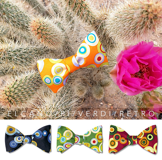 Vivid Color Circle Bow Ties for summer