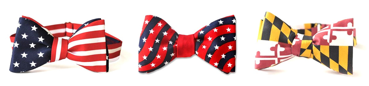 Flag Bow Ties