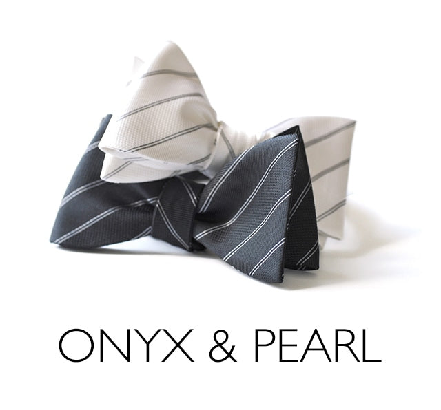 Onyx and Pearl Bow Ties