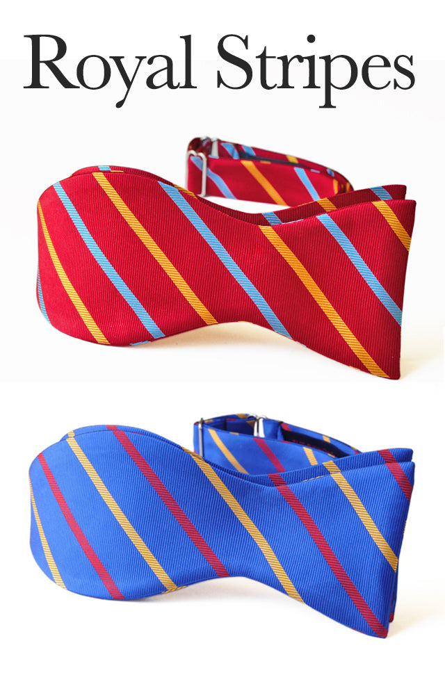 Royal Stripes Bow Ties
