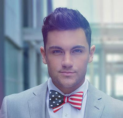 Stars and Stripes Flag Bow Tie