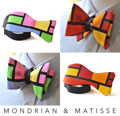 Color Block Mondrian Matisse Bow Ties