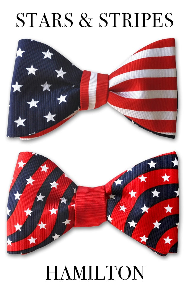 Patriotic Bow Ties Stars and Stripes Hamilton
