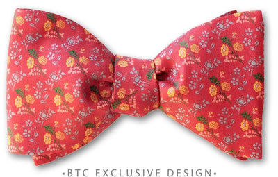 Antique Rose Bow Tie