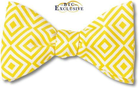 Geometric Yellow bow tie