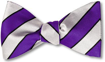 bow ties american made purple stripes