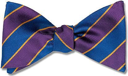 bow ties american made purple silk stripes