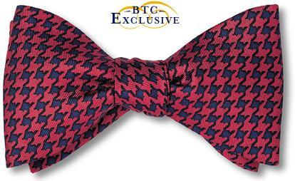bow ties houndstooth silk designer american made red navy
