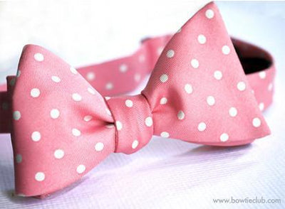 Pink Wedding Bow Tie