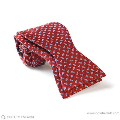 red teardrop tie your own bow tie