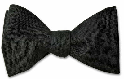 Black Wool Bow Tie
