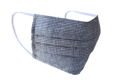 Blue Glen Plaid Washable Cotton Face Mask