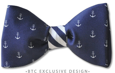 pre-tied anchor nautical bow tie