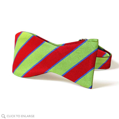 Tie-your-own Bolton Repp Silk Woven Bow Tie