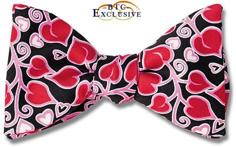 Heart Bow Tie Bordeaux