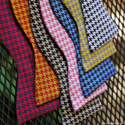 Selection of Houndstooth bow ties at The Bow Tie Club