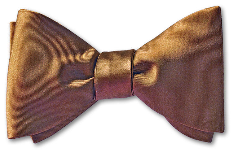 Brown Satin Bow Tie