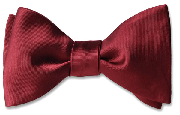Burgundy Satin Bow Tie