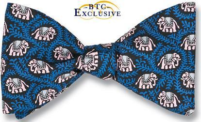 bow ties elephants blue american made
