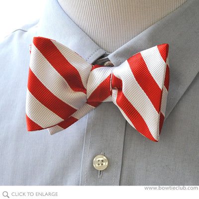 Candy Cane Red Bow Tie