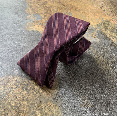 American Made Maroon woven blend bow tie