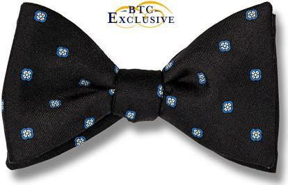 Black Silk Bow Tie American Made
