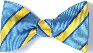 bow ties american made blue yellow stripes