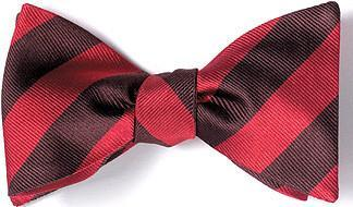 bow ties american made red brown stripes