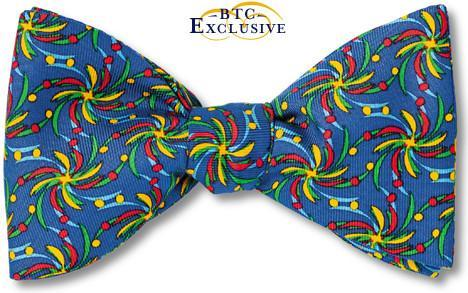 Blue bow tie called Carnival