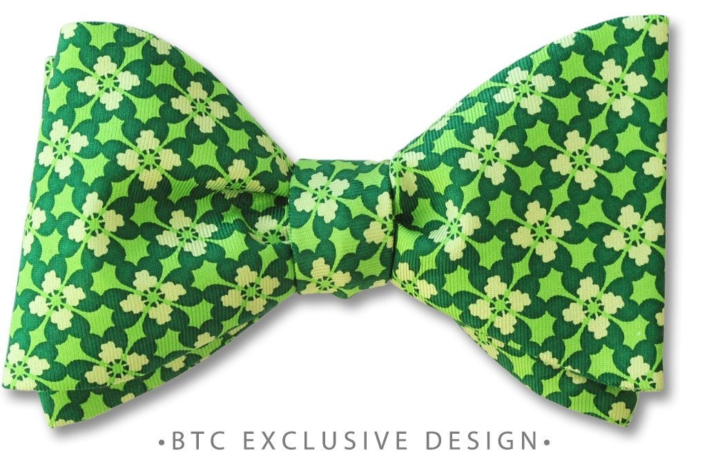 Cashel St Patrick's Day Irish Green Clover Bow Tie