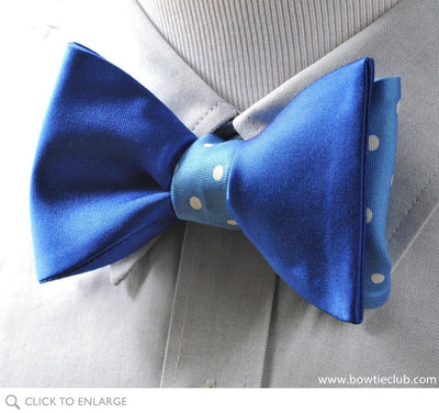 a blue blend of bow tie