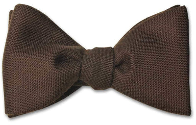 Chocolate Brown Wool Bow Tie