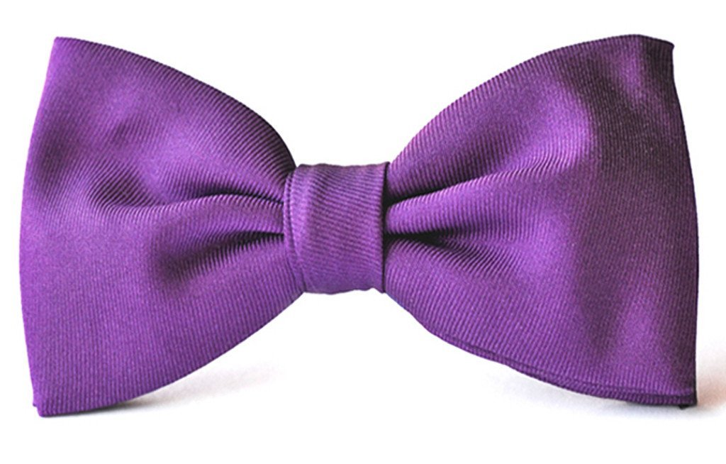 Violet purple adult clip-on bow ties
