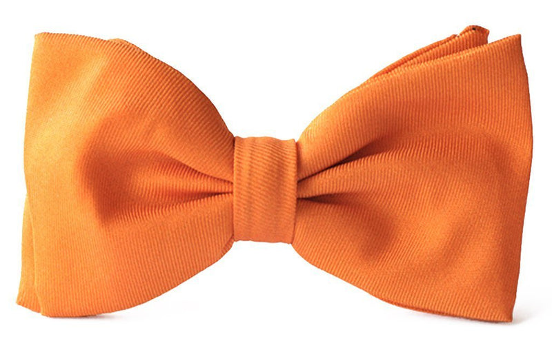 Adult premium silk clip-on bow ties Tangerine.