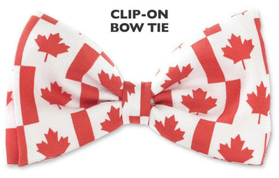 Canada Flag maple leaf Clip-on Bow Ties