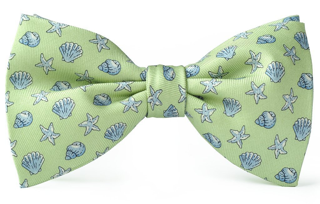 Seashells Clip-on Bow Ties American Made 056