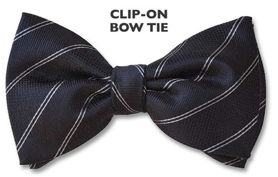 Onyx Clip on Bow Tie