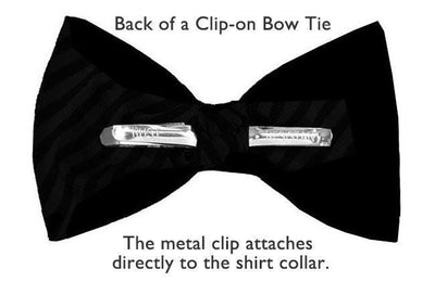 Solid Burgundy Silk Clip-on Bow Tie