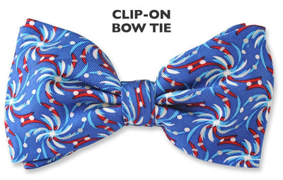 patriotic clip on bow tie