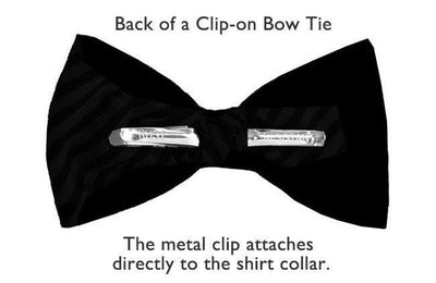 Bow Ties Kids Boys Purple Silk Clip-on Wedding