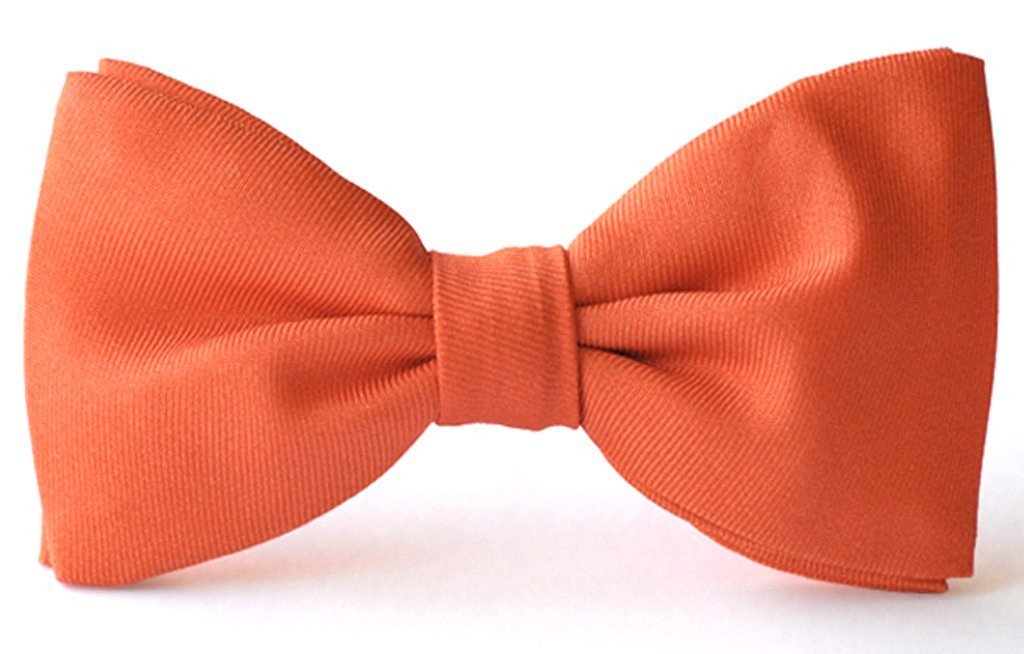 Adult premium silk coral clip-on bow ties.
