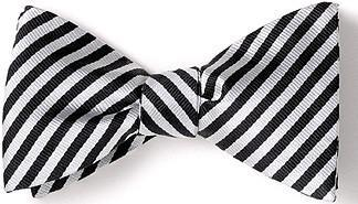 bow ties formal american made black white stripes