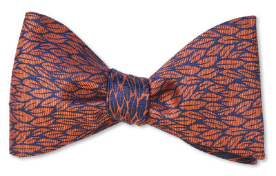 Fall leaves copper color bow tie