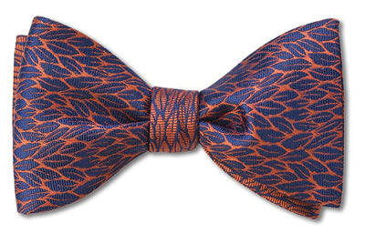 autumn copper woven silk bow tie