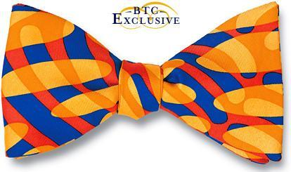 bow ties american made orange silk wave